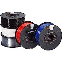 AmazonBasics PETG 3D-printerfilament, 1,75 mm, 5 verschillende kleuren, 1 kg per spoel, 5 spoelen