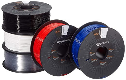 Amazon.com: AmazonBasics PETG 3D Printer Filament, 1.75mm, 5 ...