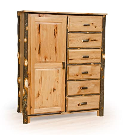 Rustic Hickory Wardrobe   OAK With Hickory Accents  Amish Made