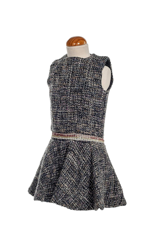 Vestido Niña Invierno para Fiesta Falda Vuelo Evase. Tejido Tweed ...