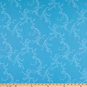 Benartex Classic Scrolls And Blenders Jackie Scroll Medium Turquoise Quilt Fabric By The Yard