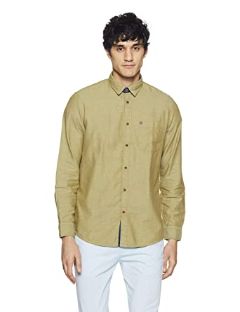ff41640536 Arrow Jeans Men s Plain Slim Fit Casual Shirt  Amazon.in  Clothing    Accessories