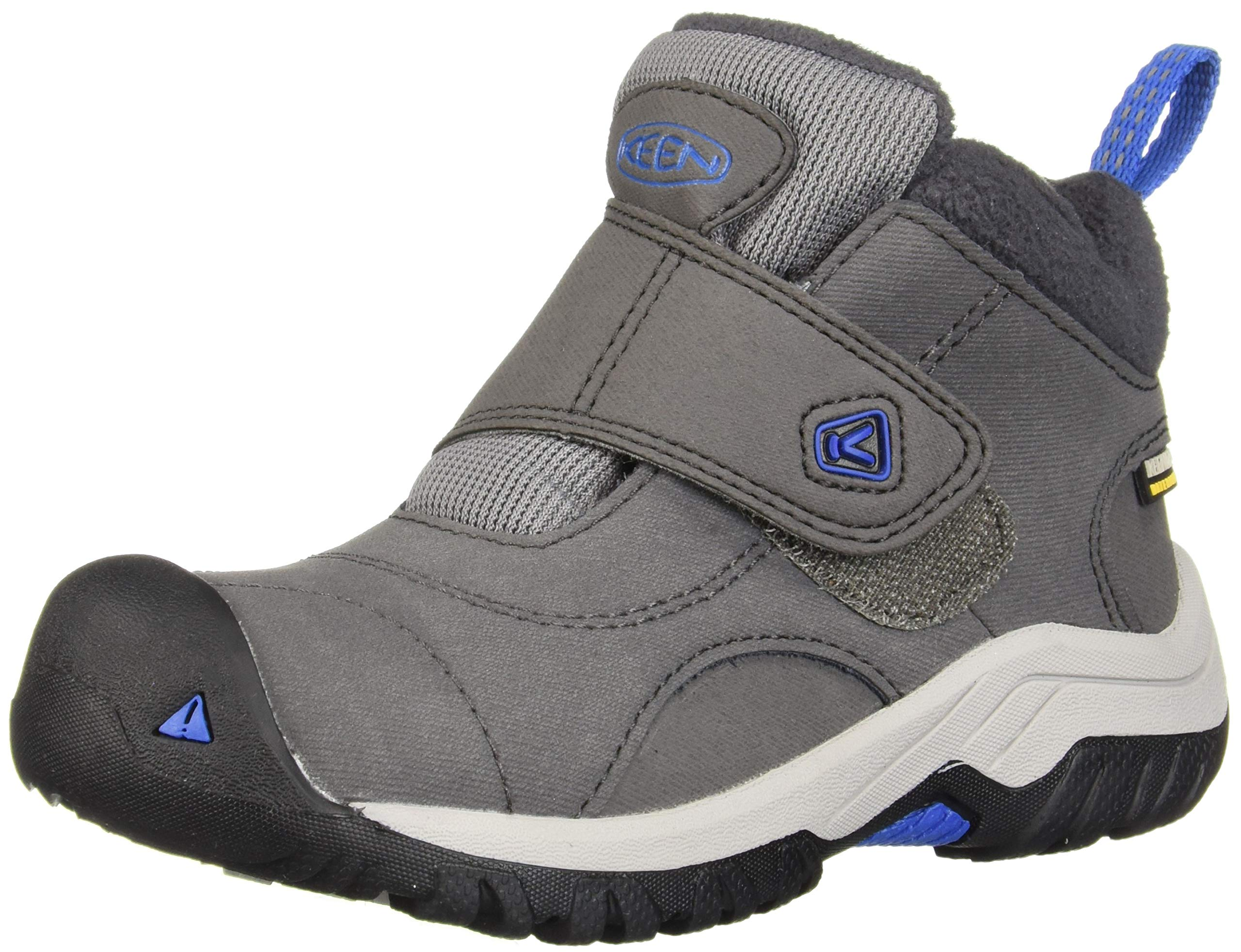 Keen Unisex Kootenay II WP Hiking Boot Magnet/Baleine Blue 13 M US Little Kid