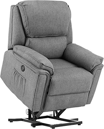 Electric Recliner Chair,Electric Power Lift Recliner Sofa,Heated Vibration,Massage Remote Control,Side Pockets USB Port,Power Lift Electric Recliner Chair,Home Sofa - a good cheap living room chair