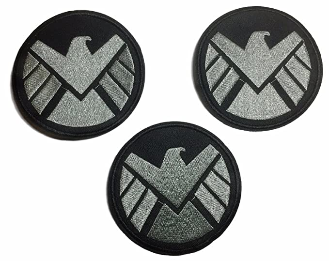 Amazon Marvels Agents Of Shield Logo 3 12 Patch Set Of 3
