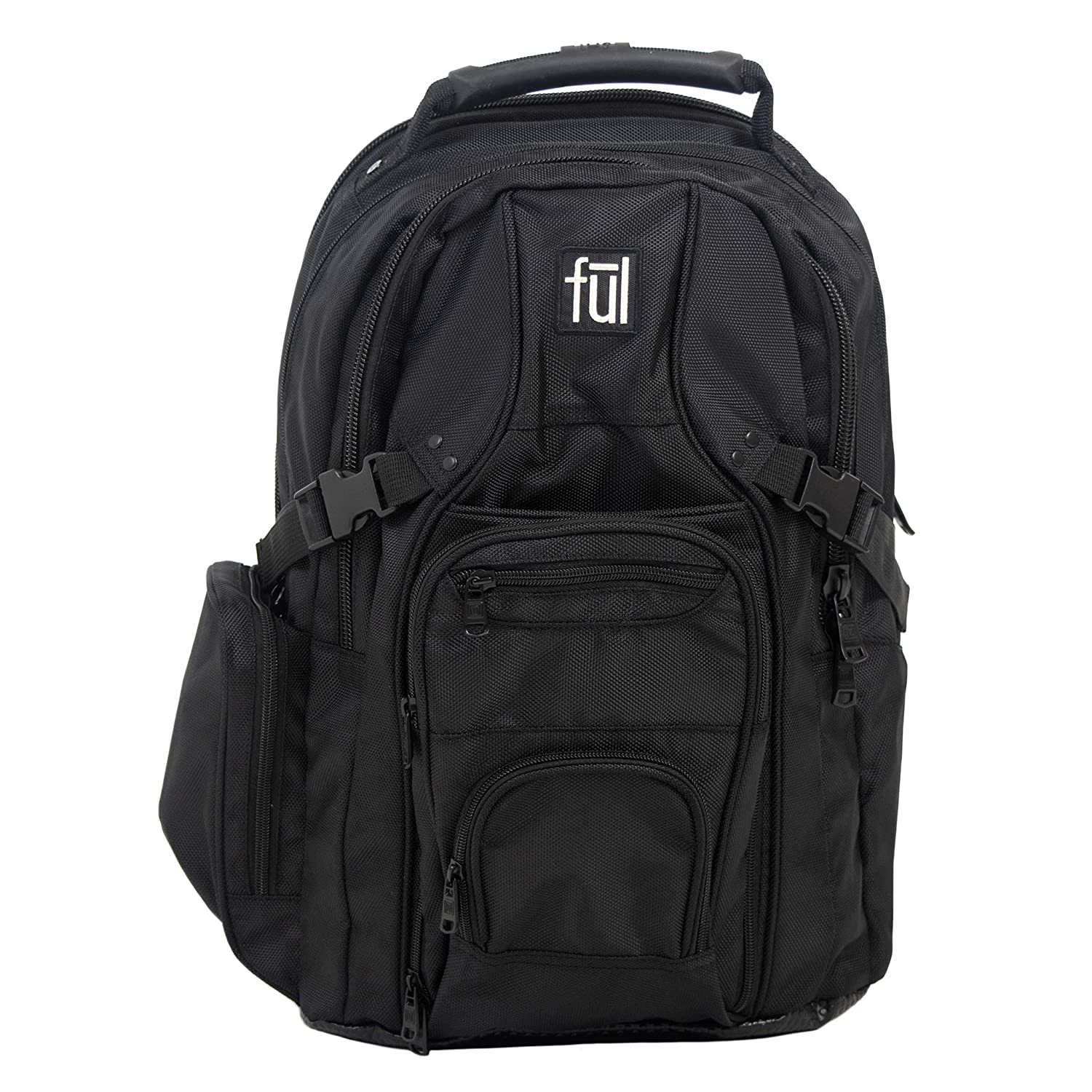 Ful Tennman Laptop Backpack 17 Inch Laptop Sleeve Black