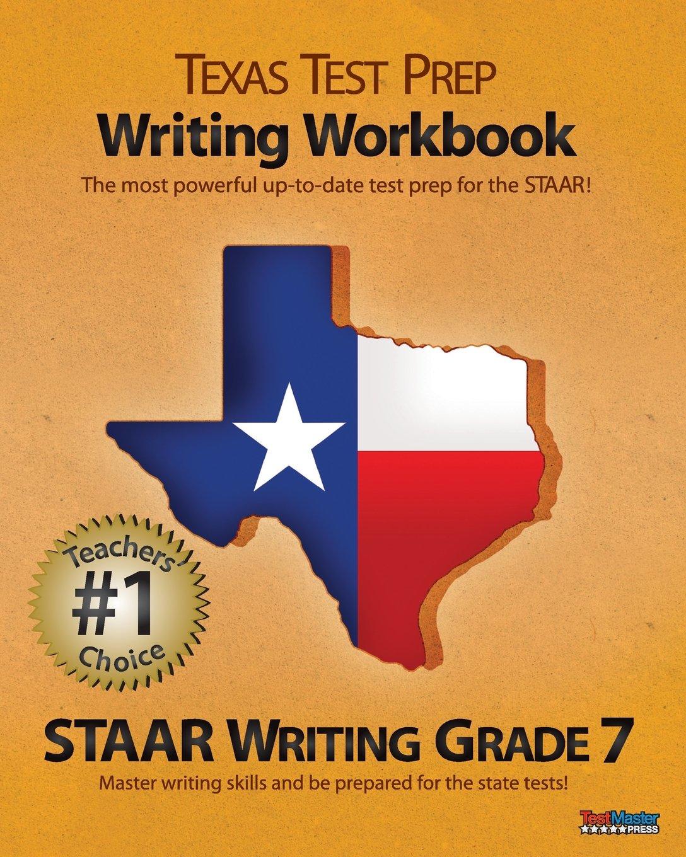 Amazoncom Texas Test Prep Writing Workbook Staar Writing Grade 7