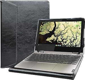 """Alapmk Protective Case Cover for 11.6"""" Lenovo Chromebook C340 C340-11/Lenovo Chromebook Flex 3i/Lenovo IdeaPad Flex 3 11IGL05 Laptop[Not fit Lenovo Chromebook C340-15/Chromebook C330-11],Black"""
