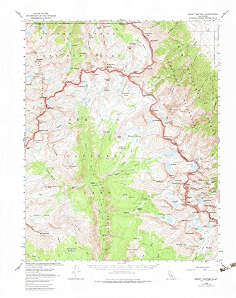 Where Is Mount Whitney On The California Map.Amazon Com Yellowmaps Mount Whitney Ca Topo Map 1 62500 Scale 15