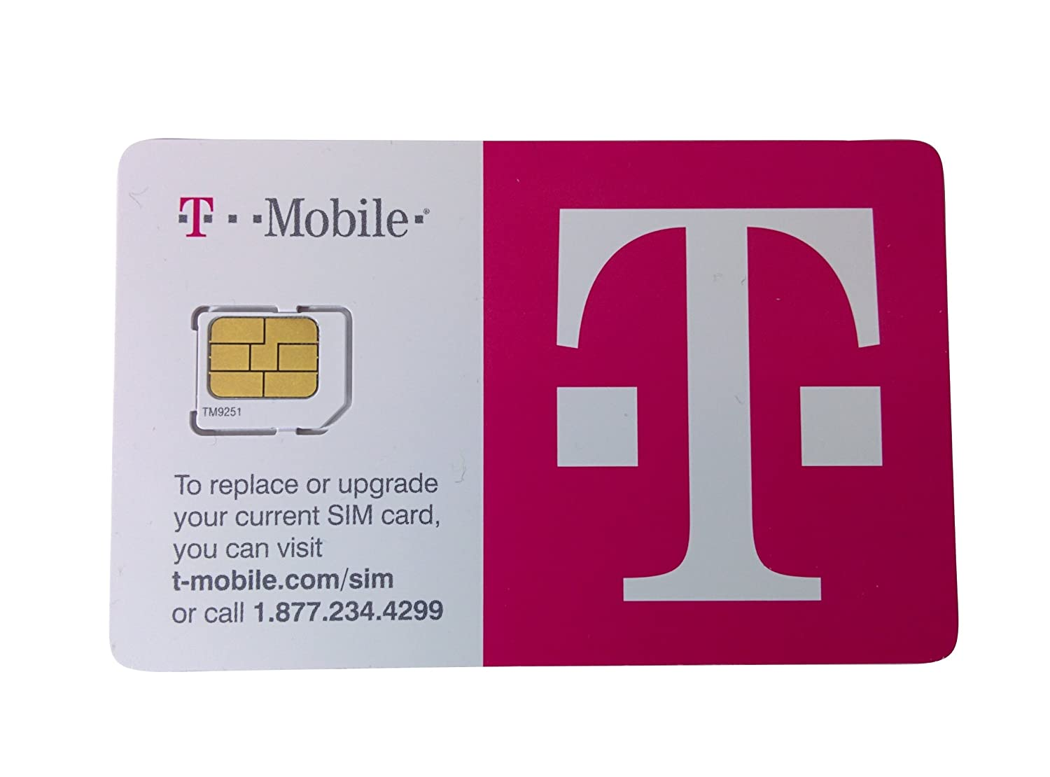 Amazon.com: T-Mobile Micro Sim for iPhone 4/4s,Galaxy S3/S4/S5,Note ...