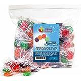 Saf-T-Pops Assorted Flavors, Lollipops with Kid Safe Sticks, by Spangler, 3 LB Bulk Candy