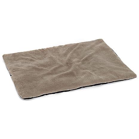 Asiento para Mascotas vitazoo Manta t/érmica para Perro Acolchada y Aislante Manta para Gato Cama para Perro Gris 70 cm x 100 cm Lado Inferior Antideslizante e Impermeable