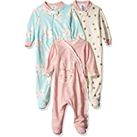 Gerber Baby Girls Paquete de 3 orgánico Sleep 'N Play