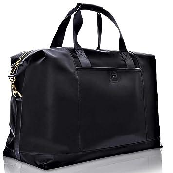 1841dbaaec40 Klott Extra Large Travel Weekender/Overnight/Duffle Bag w/ Trolley  Sleeve/Luggage Strap
