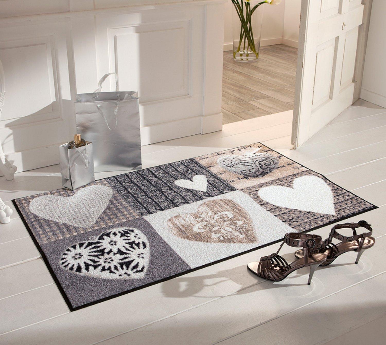 Salonloewe Fußmatte grau beige Größe 75x190 cm