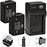 2 Pack of DMW-BMB9 Batteries and Battery Charger for Panasonic Lumix DC-FZ80, DMC-FZ40K, DMC-FZ45K, DMC-FZ47K, DMC-FZ48K, DMC-FZ60, DMC-FZ70, DMC-FZ100, DMC-FZ150 Digital Camera