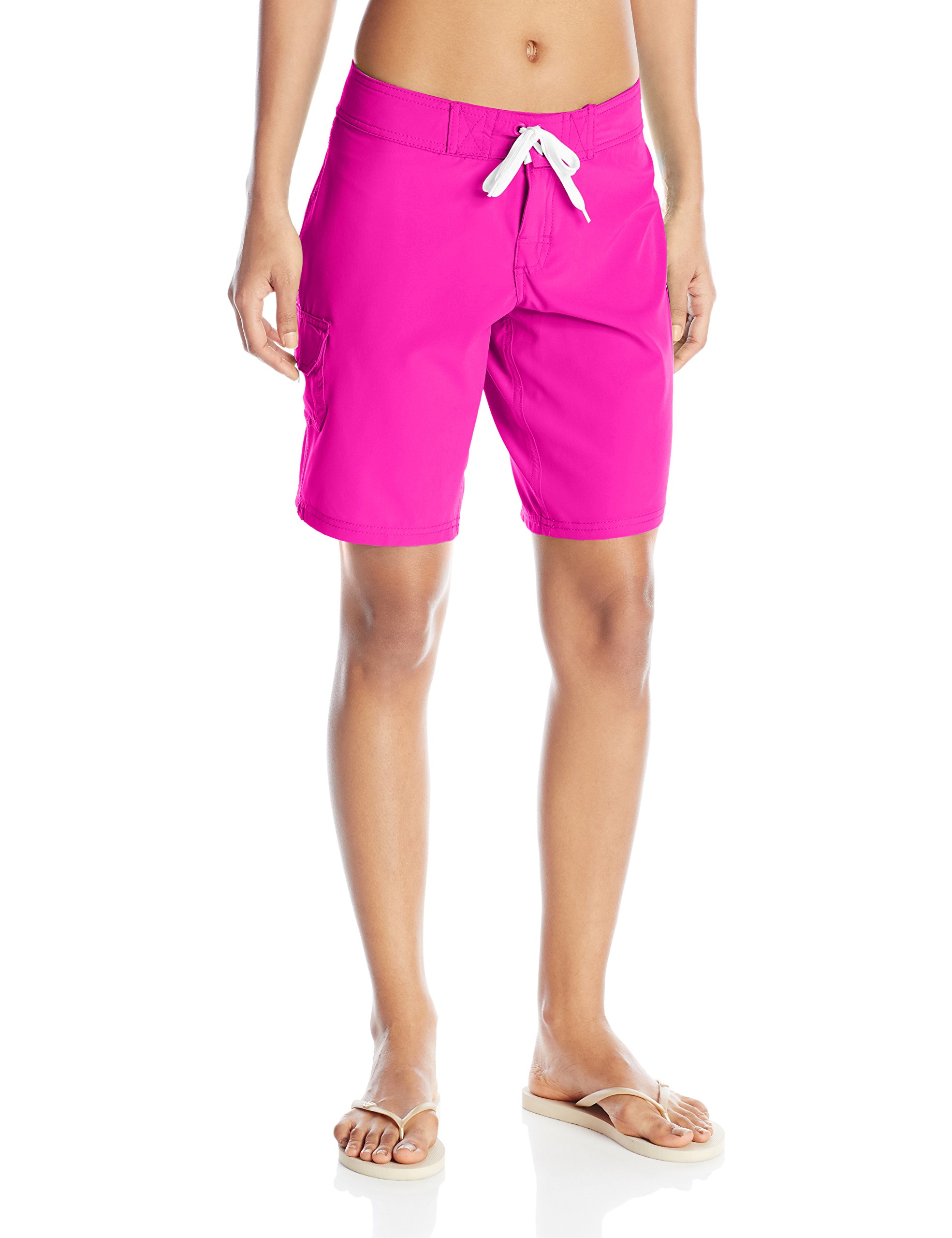 Kanu Surf Women's Marina Solid Stretch Boardshort, Pink, 14
