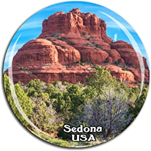 Cathedral Rock Sedona America USA Fridge Magnet 3D Crystal Glass Tourist City Travel Souvenir Collection Gift Strong Refrigerator Sticker