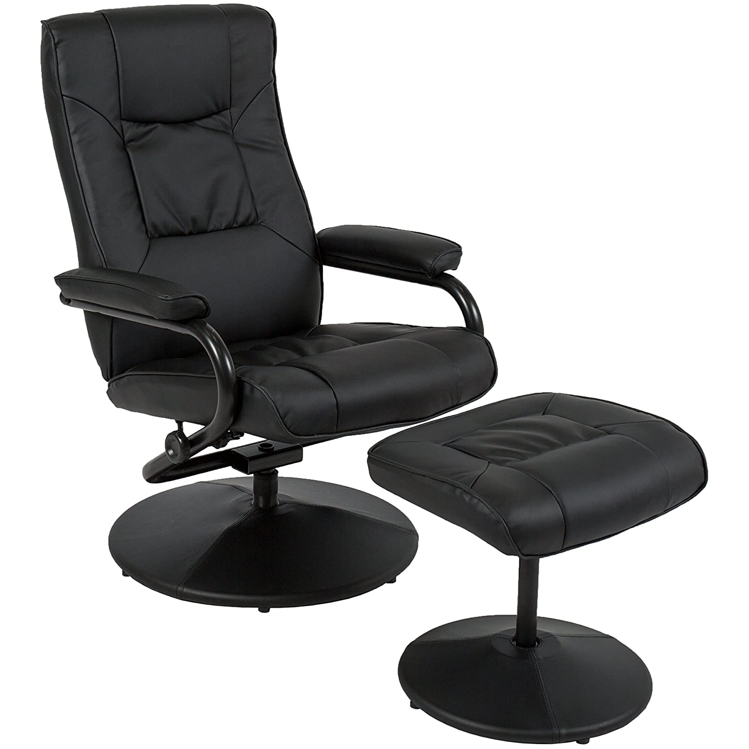 Amazon Best Choice Products Leather Swivel Recliner Chair