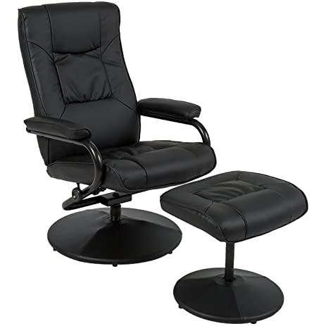 Best Choice Products Leather Swivel Recliner Chair With Footrest Stool Ottoman  sc 1 st  Amazon.com & Amazon.com: Best Choice Products Leather Swivel Recliner Chair ... islam-shia.org