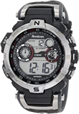 Armitron Sport 44mm plateada negro cronógrafo reloj Digital