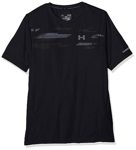 Under Armour Challenger Boys SS Train Top, Camiseta para Niños, Negro (Black)