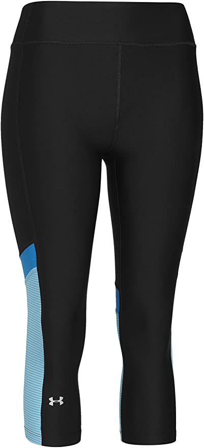 19b95b38d49563 Under Armour HeatGear Women's Alpha Novelty Capri Running Tights - SS15 - X  Small - Black
