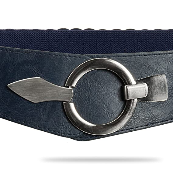CASPAR GU300 Large ceinture élastique en stretch pour femme - Ceinture pour  hanches - Ceinture pour la taille avec boucle argentée  Amazon.fr   Vêtements et ... 532e74b5146