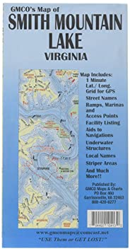 Amazon com : GMCO 10400 Smith Mnt Lake Map, GPS/Folded