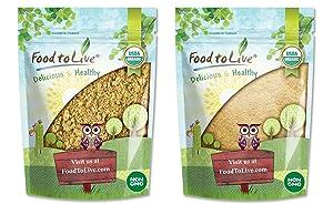 Organic Exotic Peruvian Powders Bundle - Organic Sacha Inchi Powder, 1 Pound and Organic Yellow Maca Powder, 1 Pound - Non-GMO, Kosher, Raw, Vegan