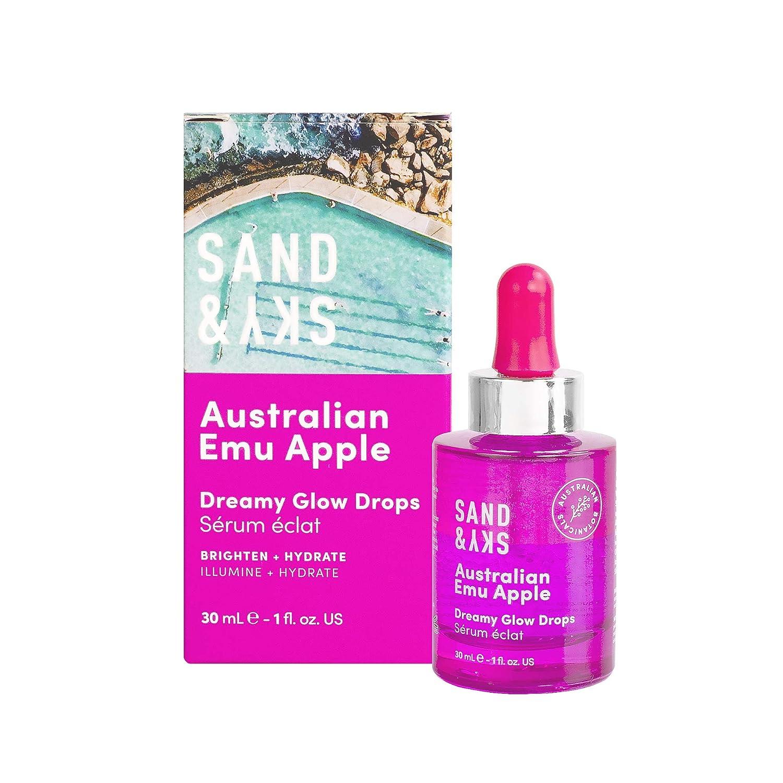 Sand & Sky Australian Emu Apple Dreamy Glow Drops. Bi-Phase Hyaluronic Acid Face Serum with Vitamin C
