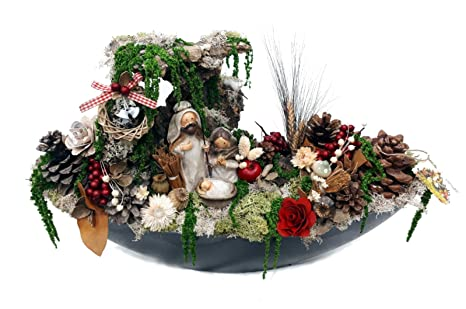Centrotavola Natalizi Amazon.Presepe Natale Motivo Presepe Di Natale Nacimientos Di Natale