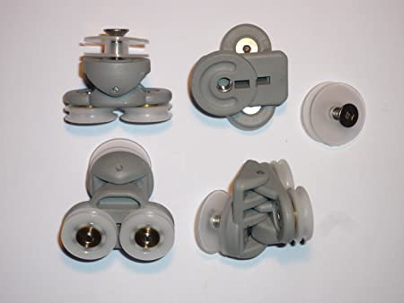 4 new twin wheel shower door rollers suitable for a variety of