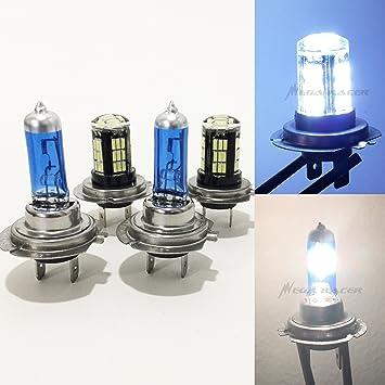 H7 H7 H7 55w Xenon Headlight Bulbs High//Low//Fog Beam Main//Dip//Fog White Light