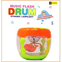 Zest 4 Toyz Baby Dynamic Musical Drum Instrument with 3D Flashing Light, Early Educational Toys for Infants and Toddlers Aged 6 Months to 3 Years Old