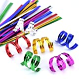 Easytle 4'' Metallic Twist Ties - 6 Colors red,gold, green, silver, blue and pink 600 Pcs