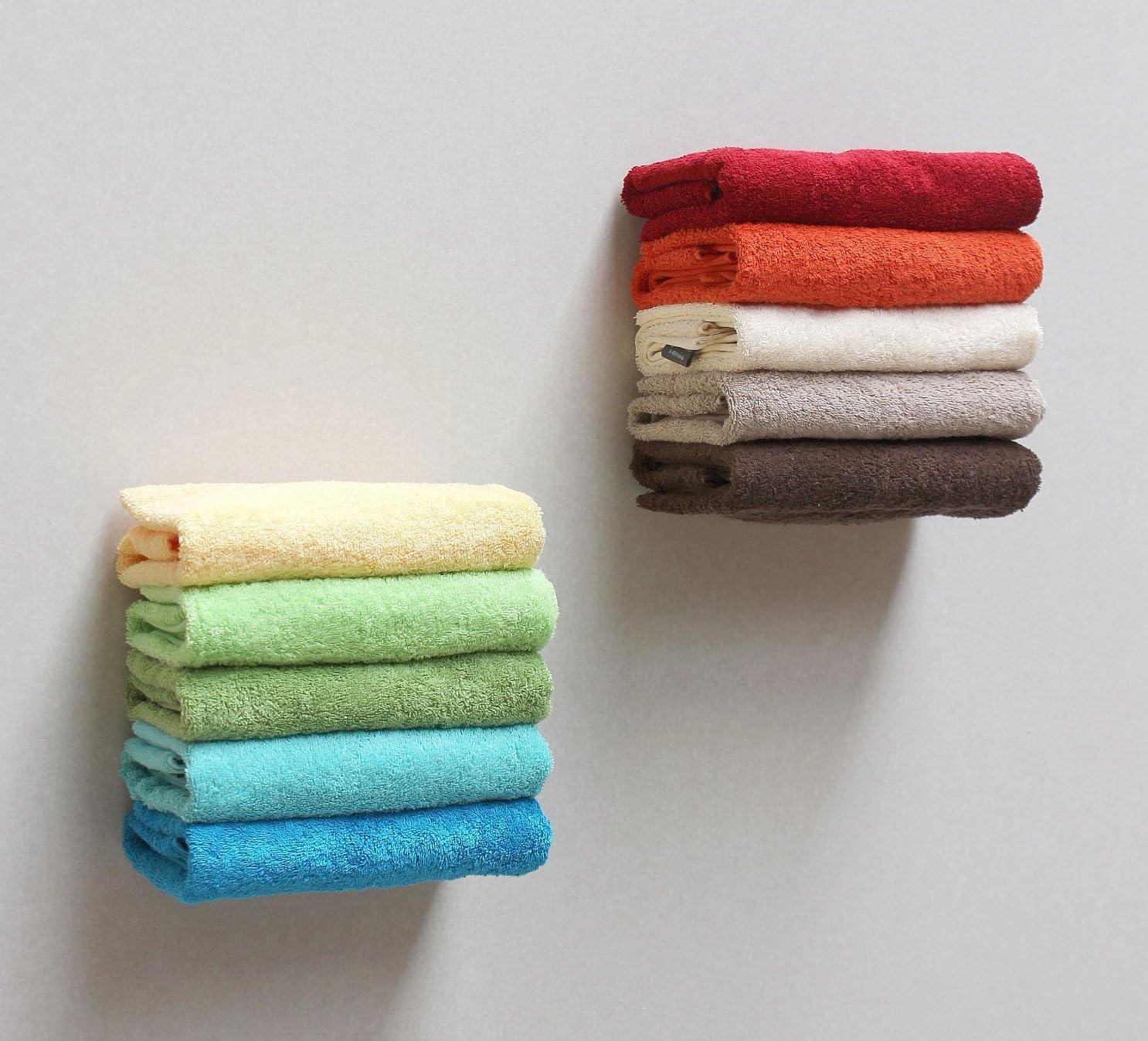 color blanco 2 unidades, 20 cm, invisible, flotante DanDiBo 93898 Toallero para pared
