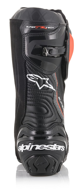 44 EU, Black Dark Gray Red Fluo Vented Supertech R Motorcycle Racing Boot