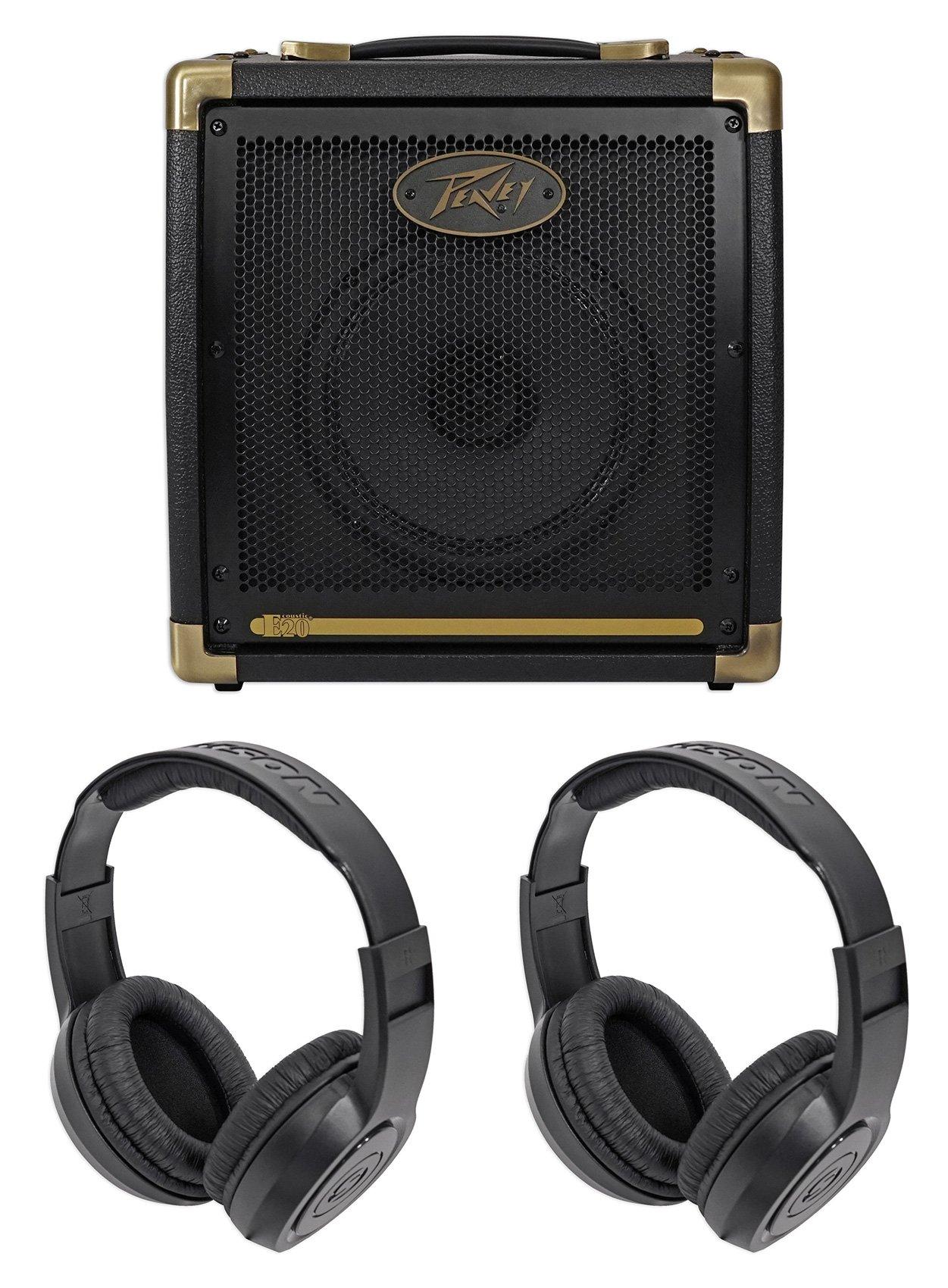 Peavey Ecoustic 20w Acoustic Guitar Amplifier Amp w/ 2-Ch.+8'' Speaker+Headphones