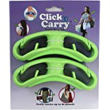 Click & Carry Grocery Bag Carrier with Soft Cushion Grip. Use as a Hands Free Grocery Bag Carrier, Plastic Bag Holder, Sports