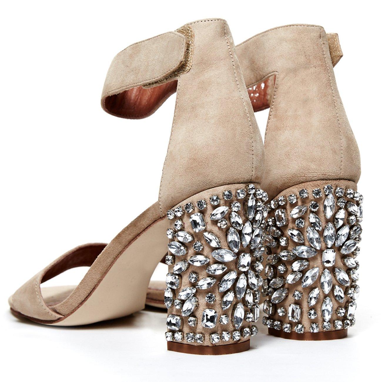Cold Feet byJeffrey Campbell 'Lindsey Jewel', bling wedding sandal, 10