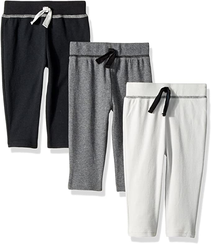 Blue /& Gray Hudson Baby Boy Baby Athletic Pants 3-Pack