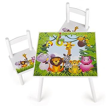 Leomark Weiß Tisch Und Stühle Für Kinder 1 Tisch Und 2 Stühle Motiv