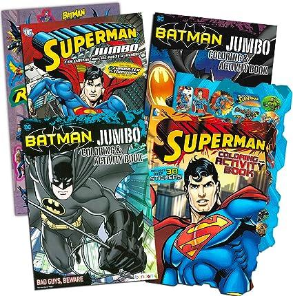 Amazon Com Justice League Batman And Superman Coloring Book Super