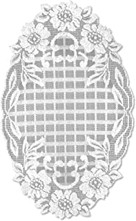 "product image for Heritage Lace White Floral Trellis 11""x18"" Doily"