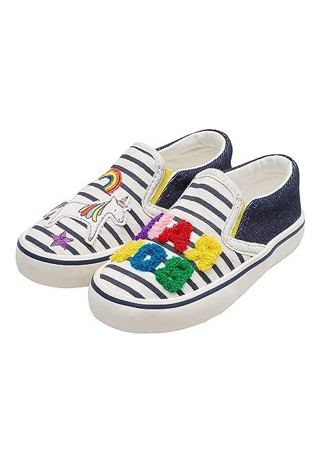 Next Niñas Zapatillas De Skate con Arcoíris (Niña Pequeña) Azul/Crudo EU 30.5: Amazon.es: Zapatos y complementos