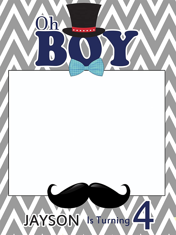 Amazoncom Custom Little Man Birthday Mustache Photo Booth Frame
