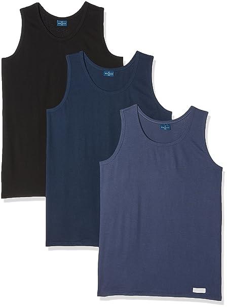575, Camiseta de Tirantes para Hombre, Blanco, XX-Large (Talla del Fabricante: 7), Pack de 3 Navigare