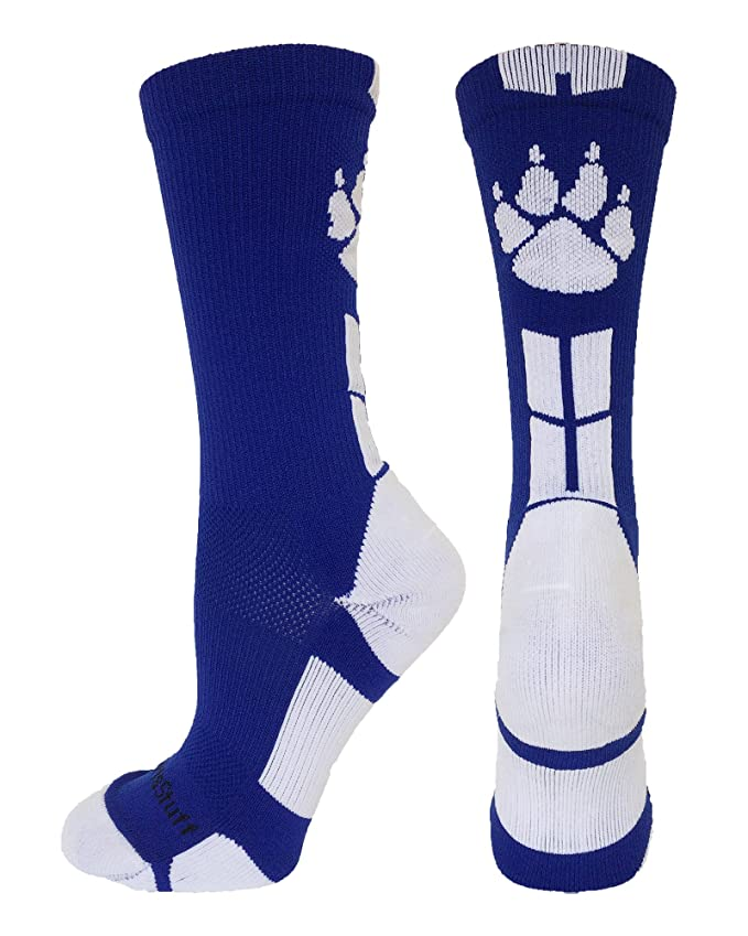 MadSportsStuff Wild Paws Athletic Crew Socks