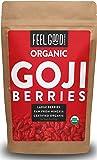 Organic Goji Berries - 16oz Resealable Bag - 100% Raw From Ningxia - by Feel Good Organics